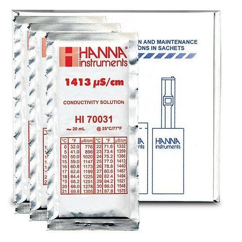 HI-70031P 1 413�S/cm Conductivity Solution, x25 Sachets