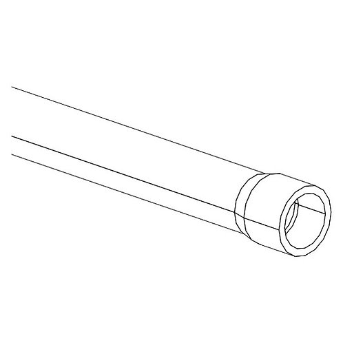 Corrugated hose PFA D21mm 0.1m