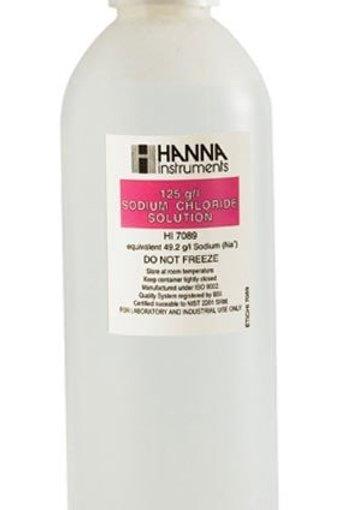 HI-7089L Standard solution at 125g/L sodium chloride, 500ml bottle