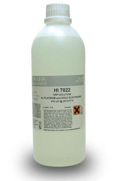 HI-7022L ORP test solution, 470mV, 500 mL bottle