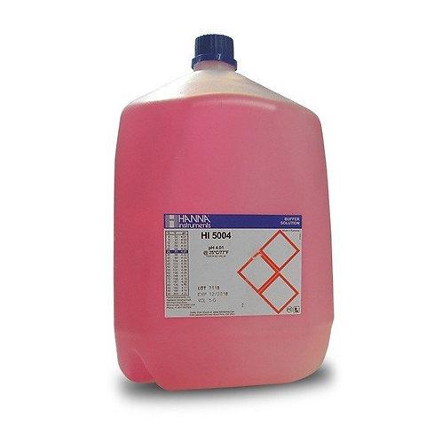 HI-5004-R08 pH 4.00 Red Technical Buffer Solution, 1 gallon bottle with cert