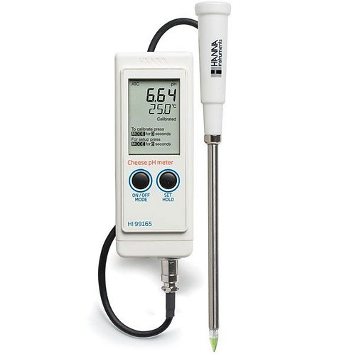 HI-99165 Portable pH/Temperature Meter for Cheese Analysis