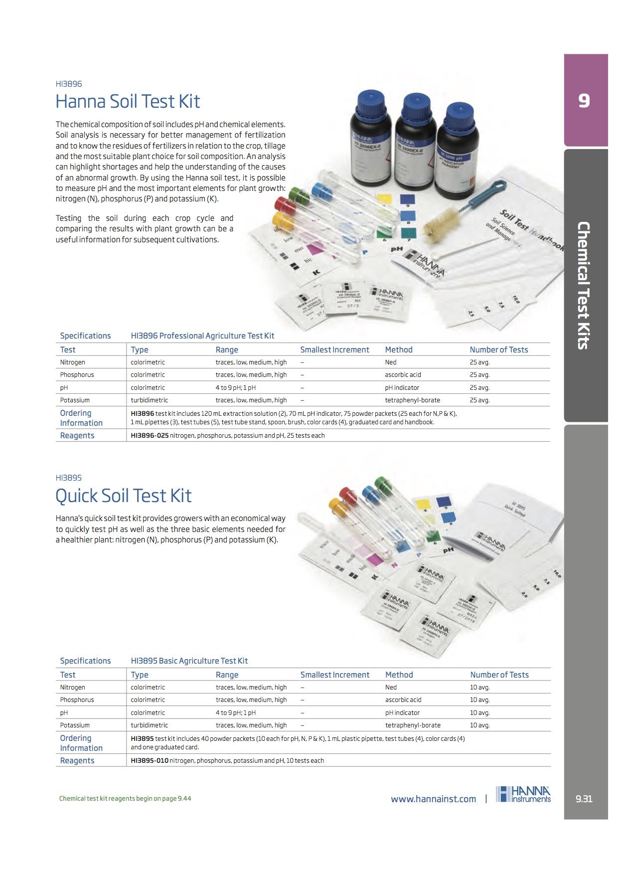 Hanna - Chemical Test Kits