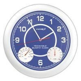 Clock with temperature and humidity display, Traceable®