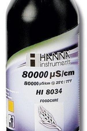 HI-8034L Foodcare Conductivity Solution - 80 000�S/cm