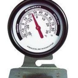 Bi-metallic dial thermometer, refrigerator/freezer