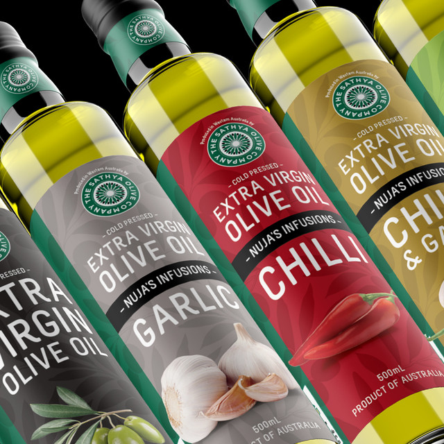 Sathya Olive Company Label Design