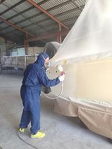 Respraying Boat Surface