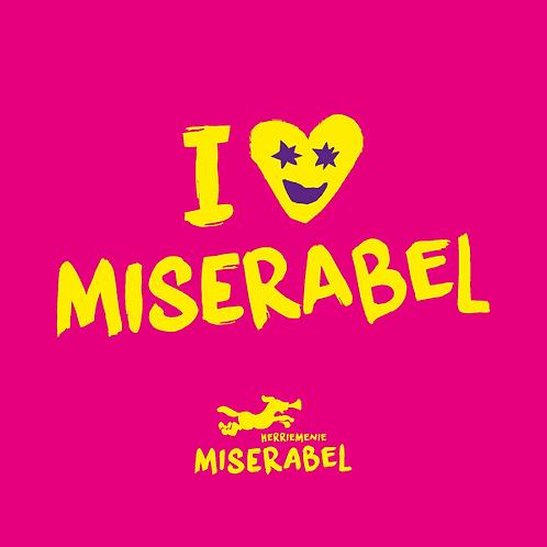 Miserabel sjaal Magenta/Geel