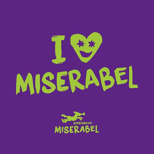 Miserabel sjaal Paars/Groen