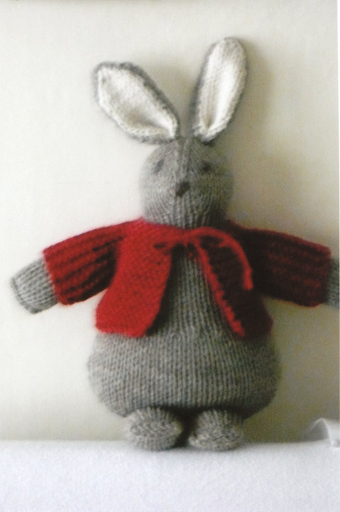 Knitted rabbit, bunny
