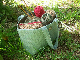 Seaside Knitting Bags, luxury, handcrafted, one of a kind