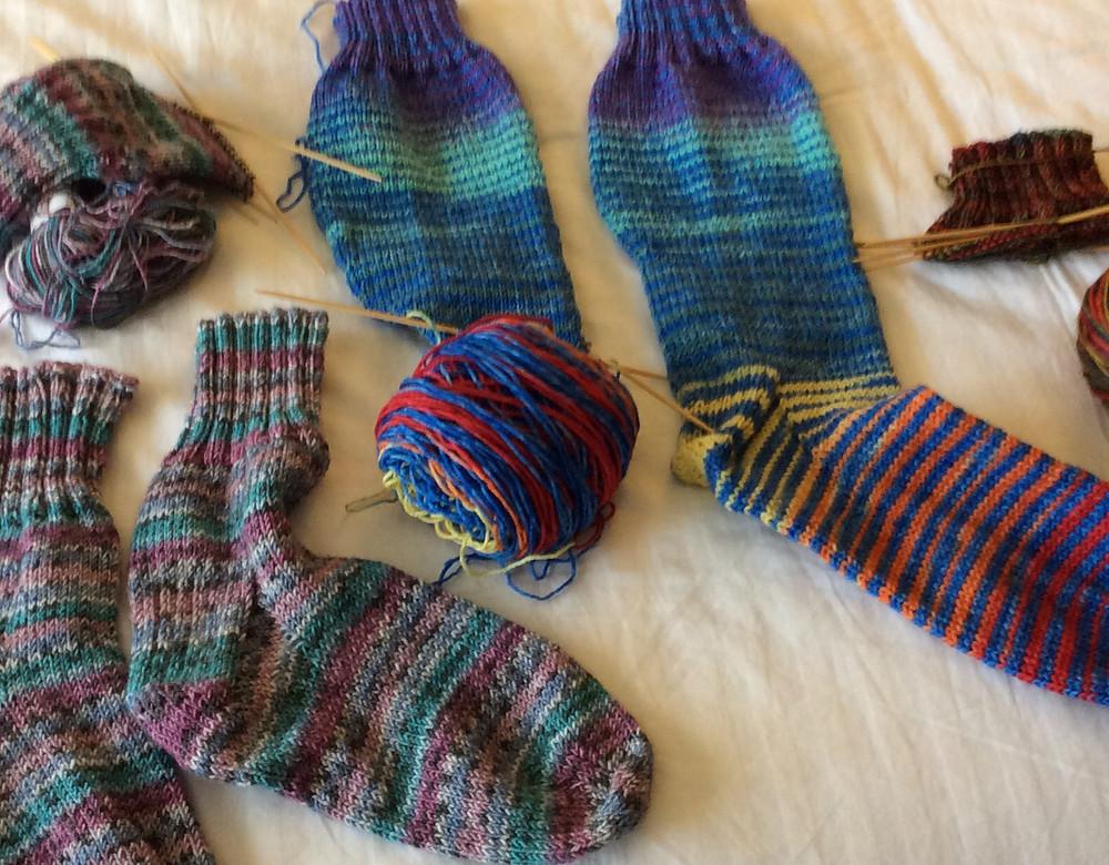 Vogue Knitting Live, blizzard knitting, socks