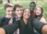 Group of Multiethnic Teenagers Taking a