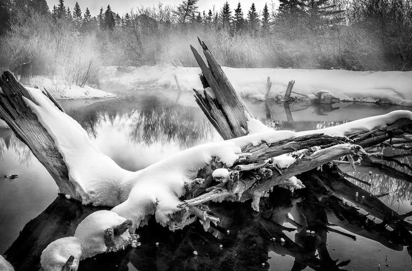 Vermillion Lakes at -28 C