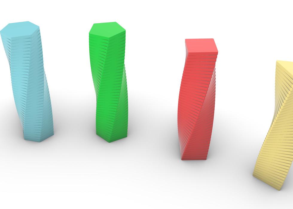 Twisting Polygon Towers I II.jpg