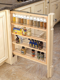 pull out spice shelves