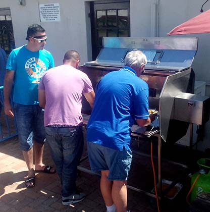 Enjoiying Spit Braai