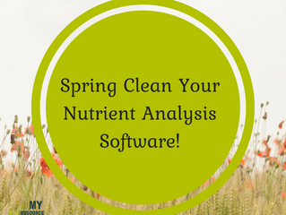 It's Time to Update Your Nutrient Analysis Software