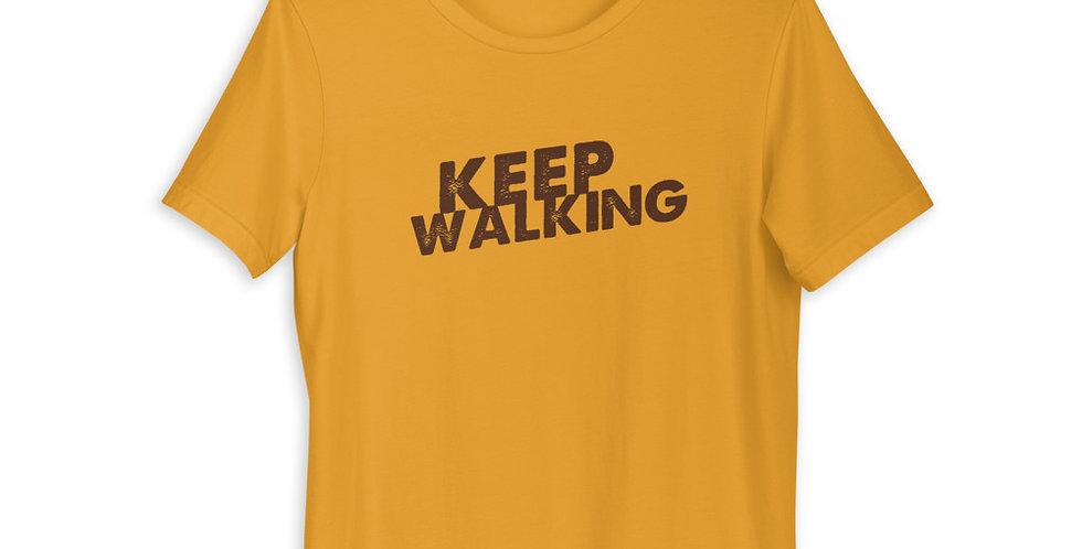 """""""Keep Walking"""" Unisex T-Shirt (dark logo)"""