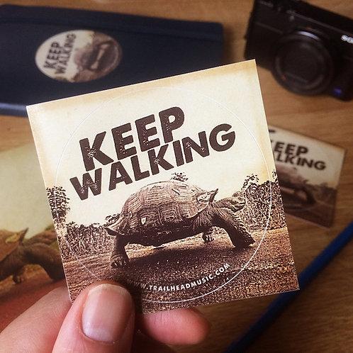"3 Sticker ""Keep walking"""