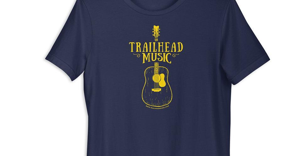 "Unisex T-Shirt ""Trailhead Music Guitar"" (yellow logo)"