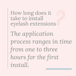 how long does it take to install eyelash