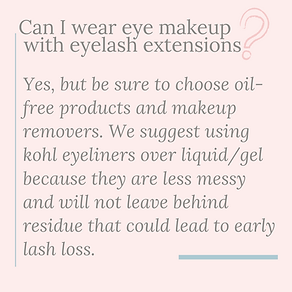 can I wear eye makeup with lash extensio