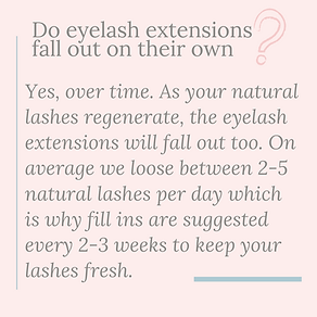 do eyelash extensions fall out on their