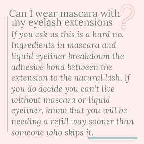 can I wear mascara with eyelash extensio