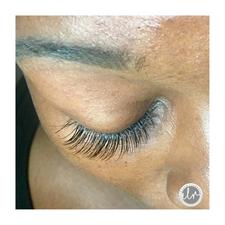 Closed eye, hybrid lash set