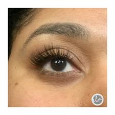 Open eye, hybrid lash set
