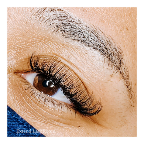 right eye doll shape lash extensions