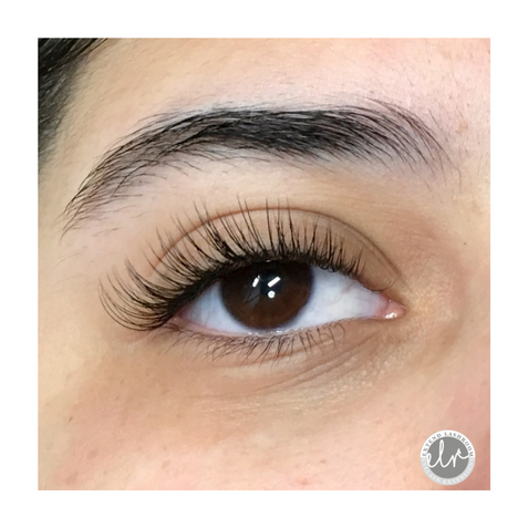 Classic eyelash extensions, cat eye