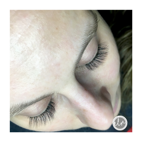 light, natural flirt volume lash extensions