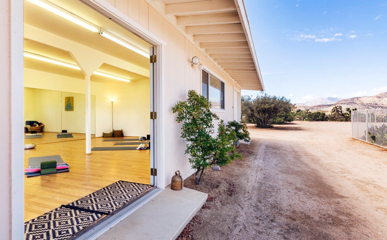 Yoga Studio and Desert