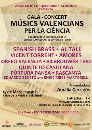 Spanish Brass reuneix músics valencians per a donar suport a la investigació mèdica.