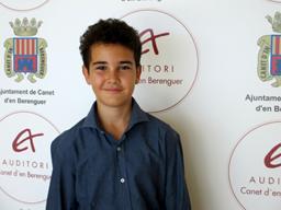 Nacho Navarro Harsulescu, ganador del Concurs Joves Músics de Canet d'en Berenguer