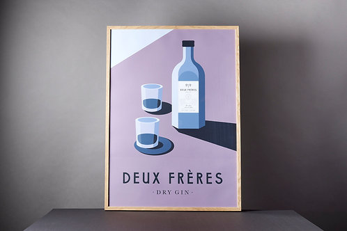 Poster Deux Frères Dry Gin