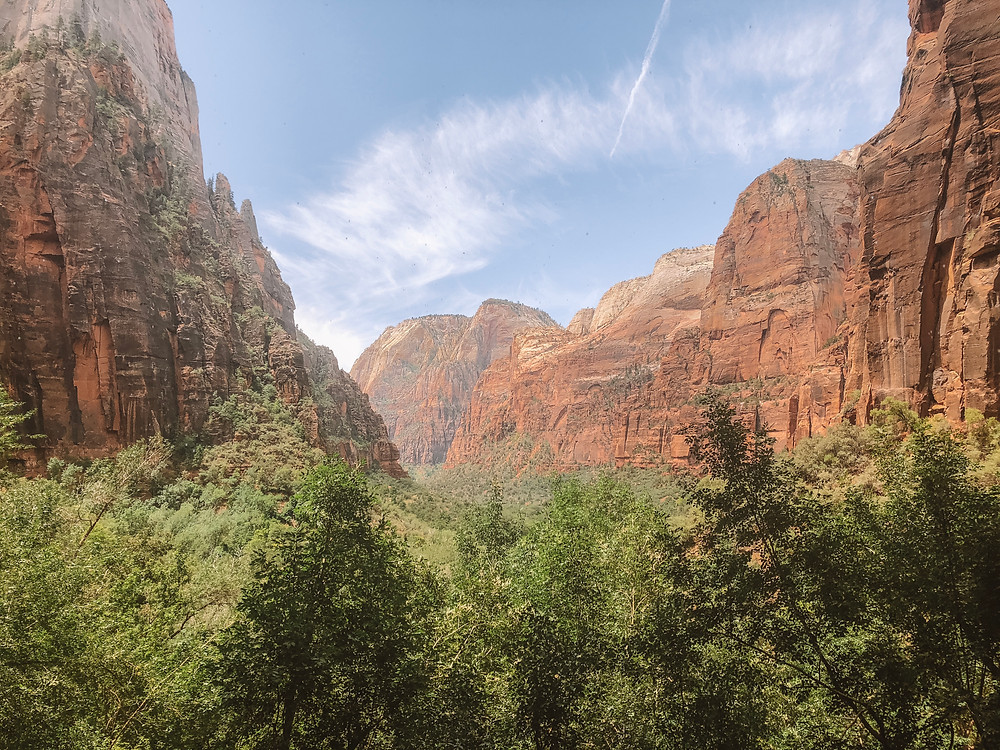 weeping rock trail overlook zion national park