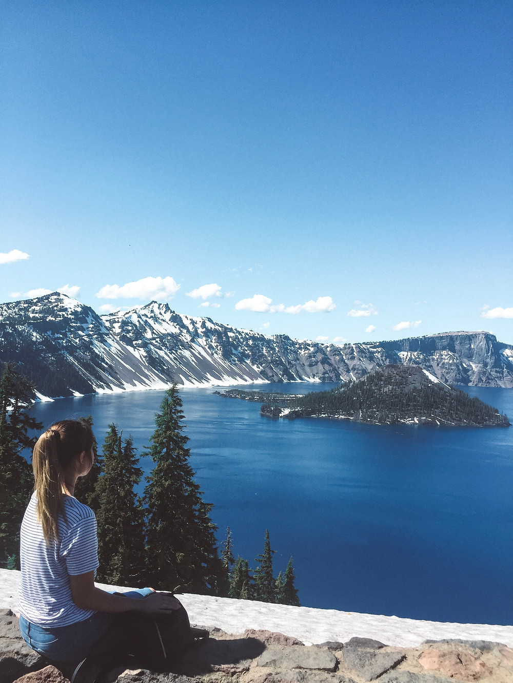 View at Crater Lake National Park