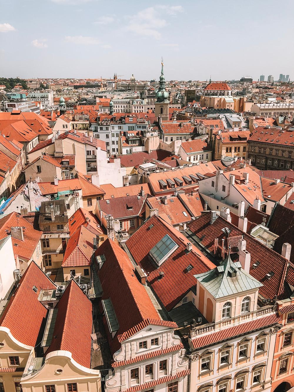 View of Prague from Prague Astronomical Clock