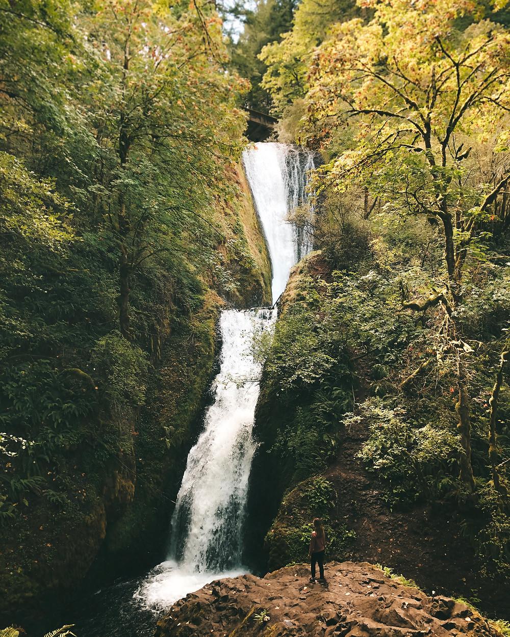 bridal veil falls portland oregon columbia river gorge