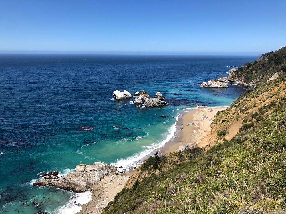 mcway falls turquoise ocean water big sur