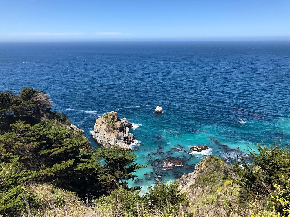 big sur turquoise waters ocean vistas views