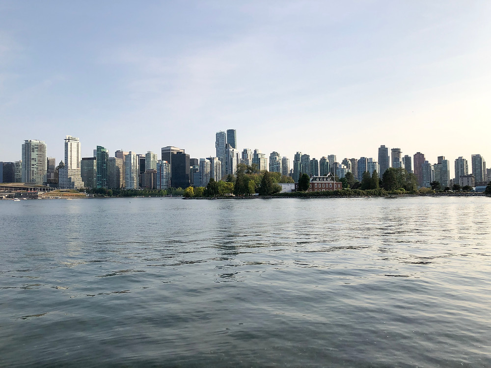 View of Downtown Vancouver from the Stanley Park Seawall