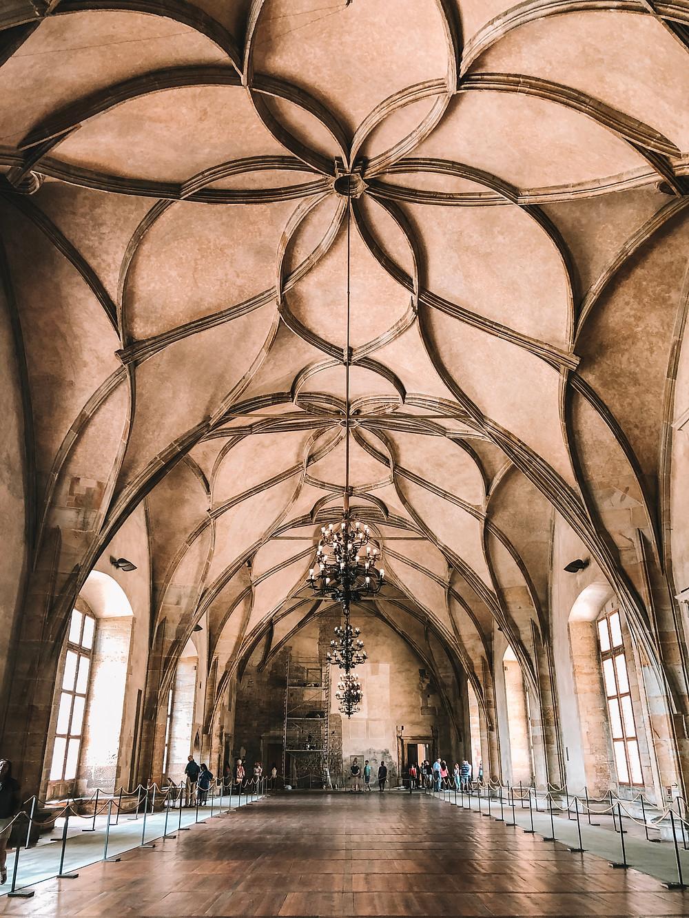 Old Royal Palace Prague Castle Czech Republic
