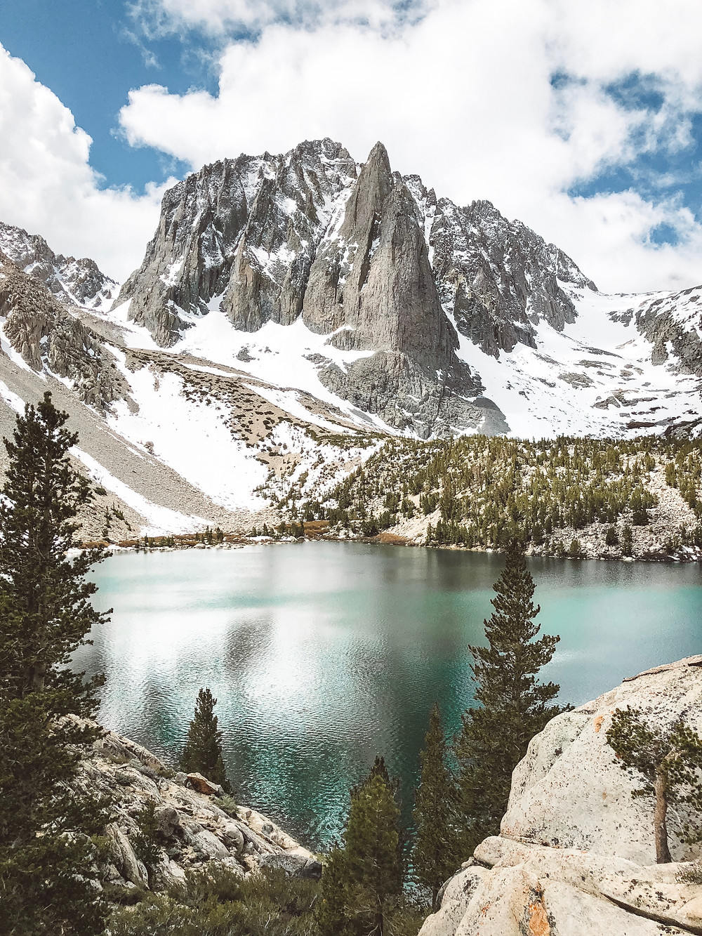 Alpine View of Temple Crag at Big Pine Lakes