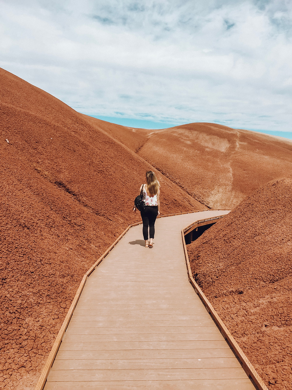 Walking the Painted Hills Boardwalk