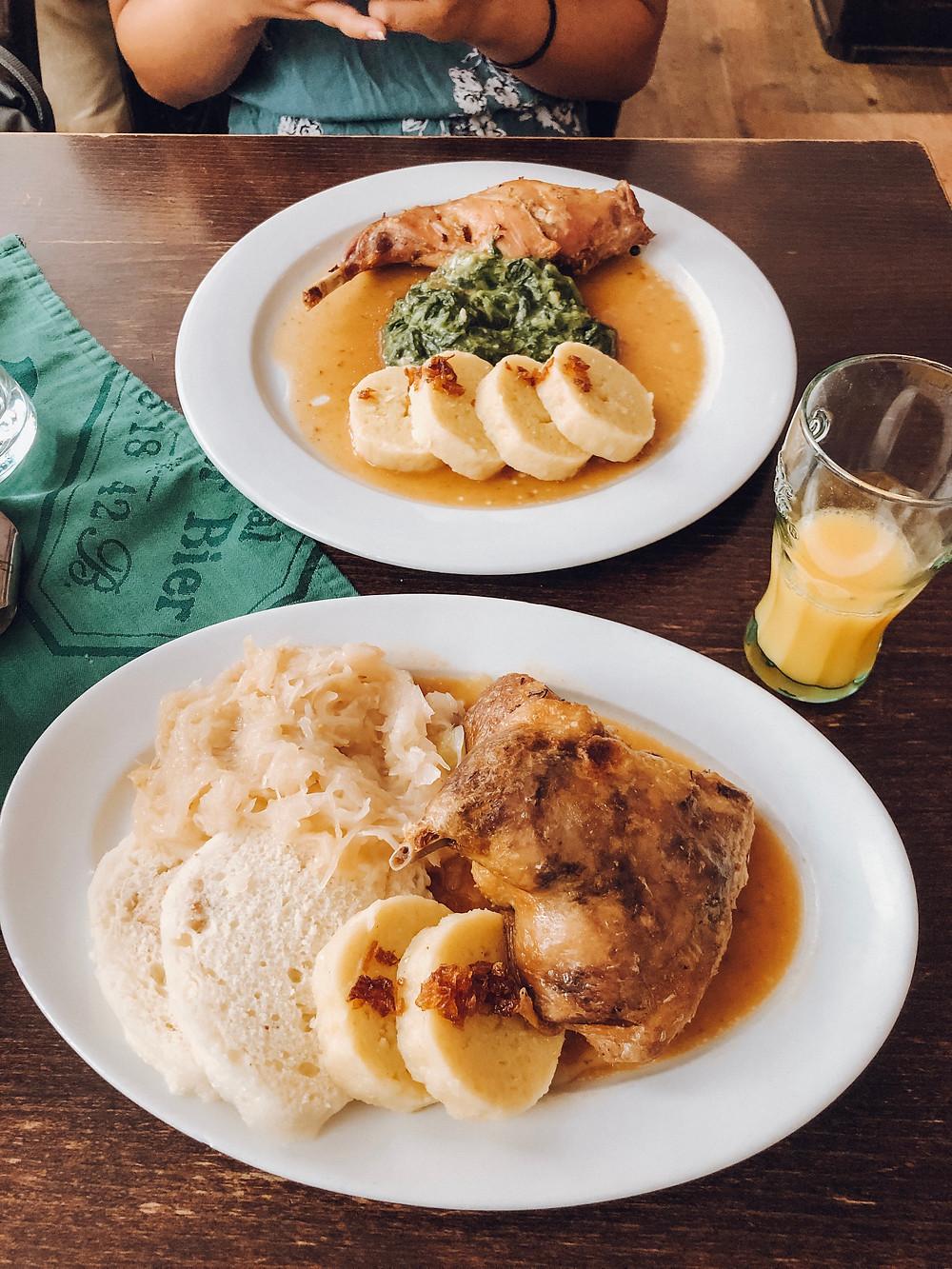 U Parlamentu prague traditional dishes